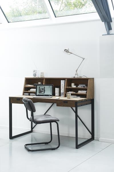 bureautafel mapolo met opzet teak deco. Black Bedroom Furniture Sets. Home Design Ideas