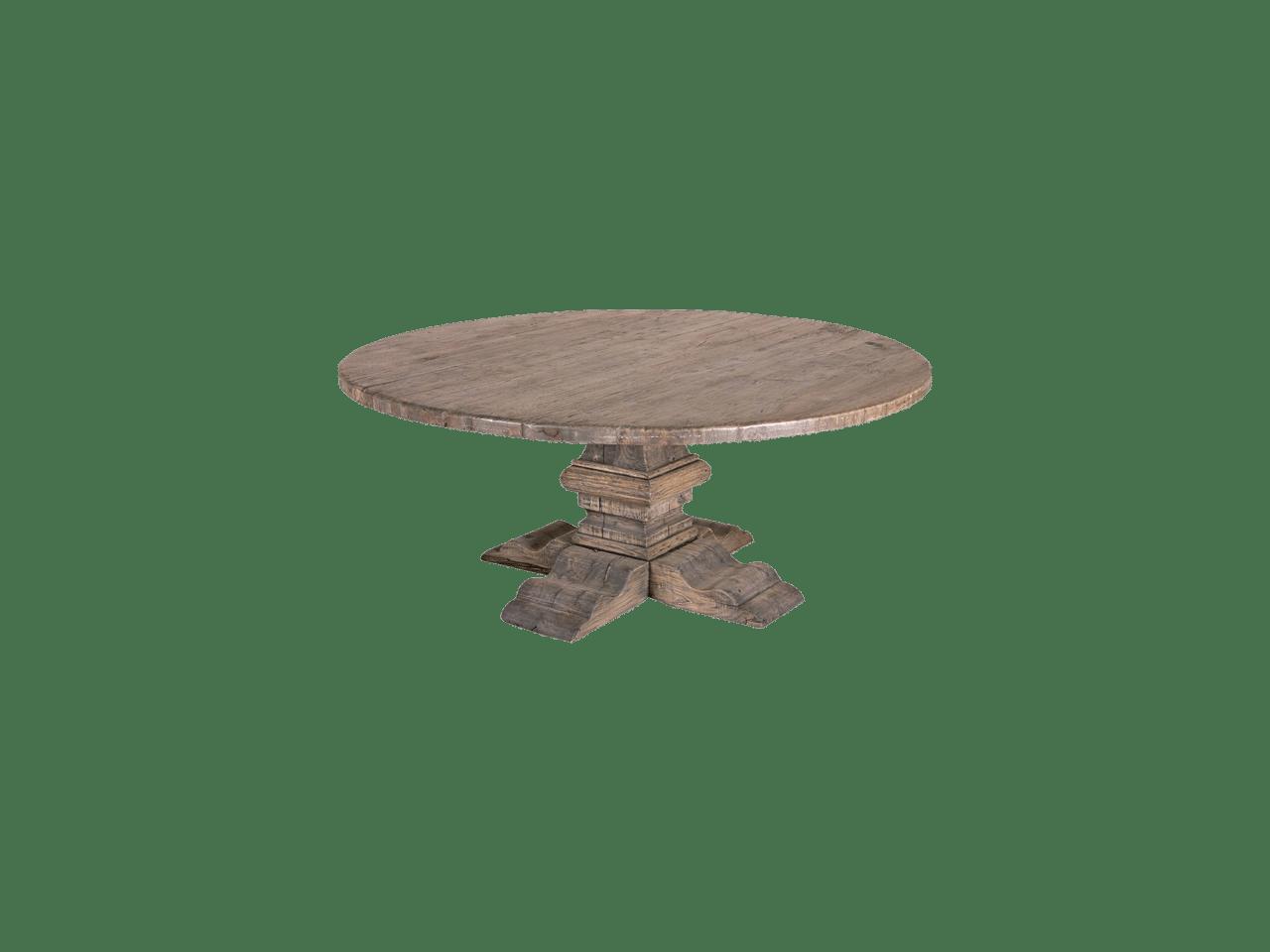 Arjan ronde tafel teak deco